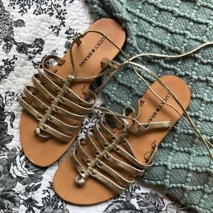 Lucky Brand Lace Up Sandals